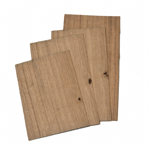 "Oak 2.4 mm - 4 sheets 10 -15.5"" x 8""  ( 27 - 40  x 20 cm )"